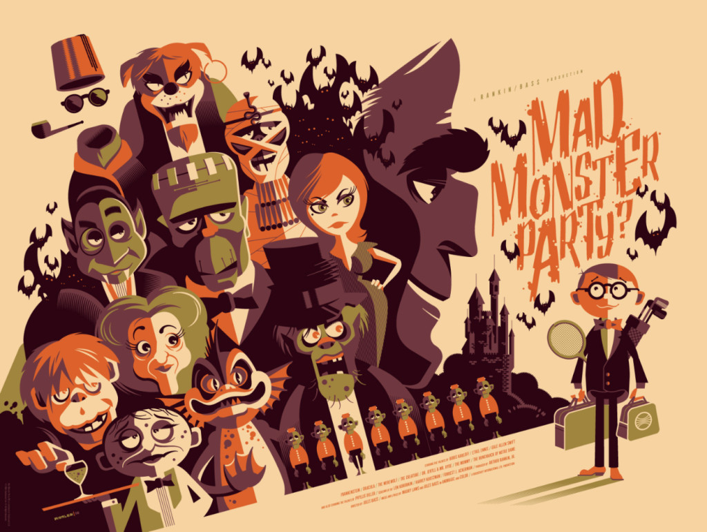 "「怪物の狂宴」 Mad Monster Party  by Tom Whalen.  24""x18"" screen print. Signed & Hand numbered.  Edition of 250.  Printed by D&L Screenprinting.  US$45"