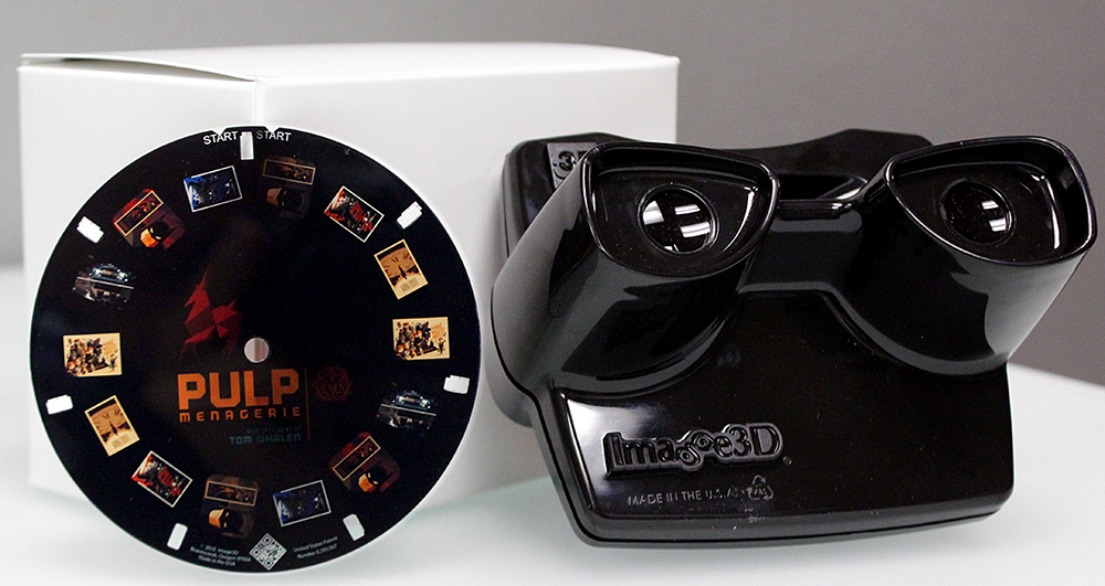 Pulp Menagerie Viewfinder.  Reel Included.  US$30  (Individual reels also available for US$10)