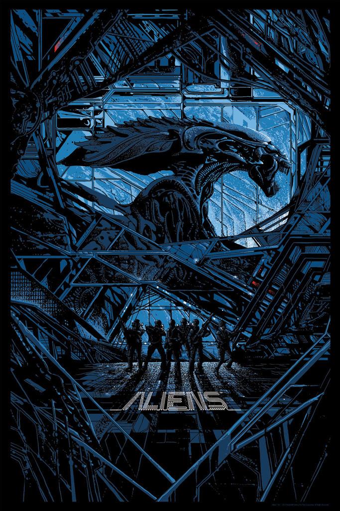 """「エイリアン2」 Aliens  by Kilian Eng 24"""" x 36""""  Edition of 300"""