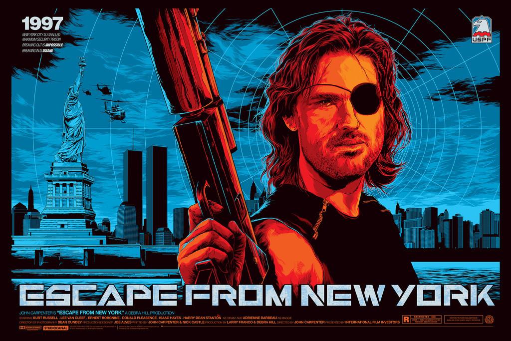 """「ニューヨーク1997」バリアント Escape from New York (Variant)  by Ken Taylor 36"""" x 24""""  Edition of 175"""