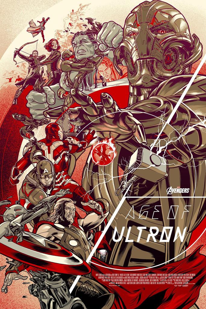 """「アベンジャーズ/エイジ・オブ・ウルトロン」バリアント Avengers: Age of Ultron (Variant)  by Martin Ansin 24"""" x 36""""  Edition of 250"""